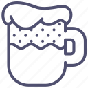 alcohol, beer, drink, foam, kvass, mug icon