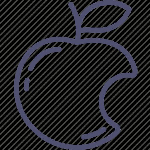 apple, bitten, cardinal, food, fruit, genesis, sin icon