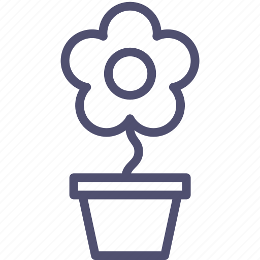 flower, nature, pot, present icon