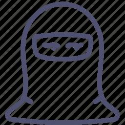 avatar, human, muslim, paranja, woman icon
