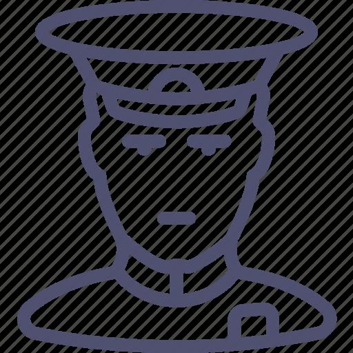 avatar, cap, cockade, general, human, soldier icon