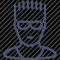 athlete, avatar, duke, glasses, guy, human, nukem, sportsman icon