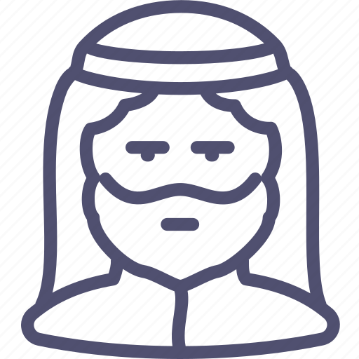 avatar, human, man, muslim icon