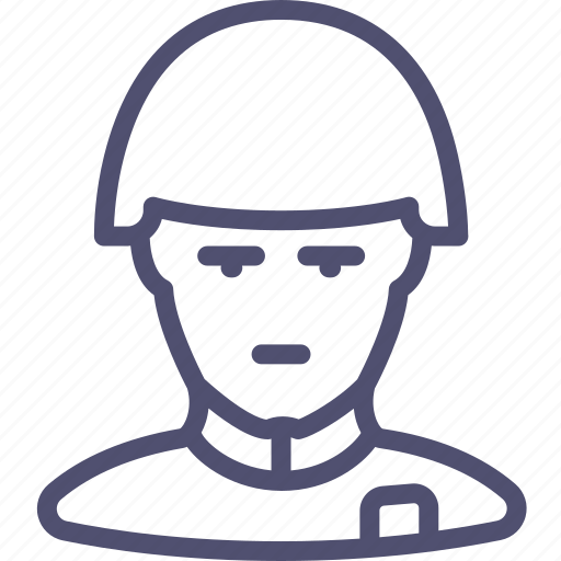 avatar, helmet, human, retro, soldier icon