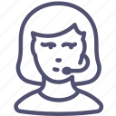 avatar, support, woman, call center
