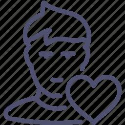 avatar, favorite, friend, friends, human, list, love, user icon