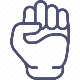 fist, hand, knuckle, kulak, will, willpower icon