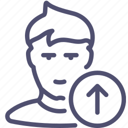 avatar, human, prev, previous, up, user icon