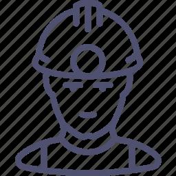 avatar, human, industrial, man, miner icon