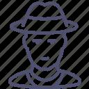 avatar, cowboy, man icon