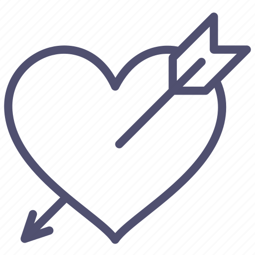 arrow, heart, love, santa, valentine icon