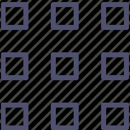 grid, layout, medium, thumbnails icon