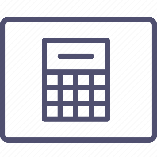 calculator, grid, layout, wireframe icon