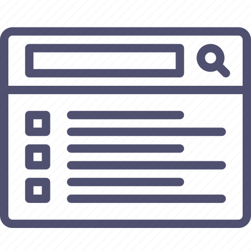 grid, layout, list, search, wireframe icon