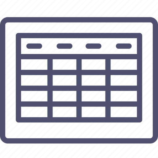 grid, layout, table, wireframe icon