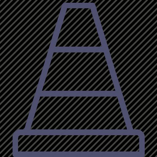 cone, consturction, traffic, transport icon