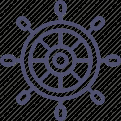 marine, nautical, ocean, sea, wheel icon