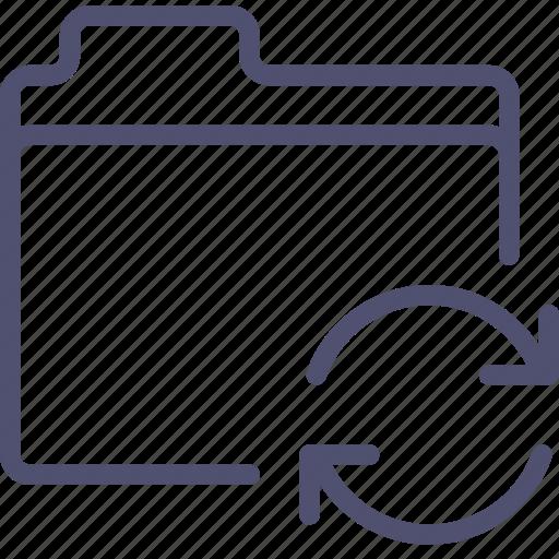 files, folder, storage, sync, syncronization icon