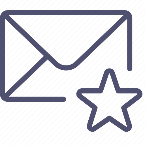 email, envelope, favorite, flagged, mail, marked, message icon