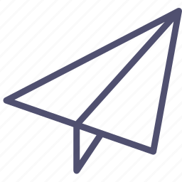 paper, paperplane, plane icon