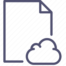 cloud, document, file, page, paper, sheet icon