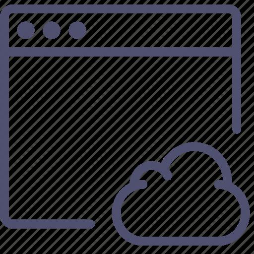 app, application, cloud, mac, window icon
