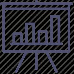 analytics, board, chart, deck, presentation, promo, statistics, stats icon