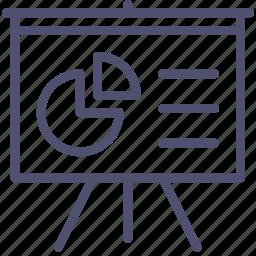 analytics, board, deck, diagram, presentation, promo, statistics, stats icon