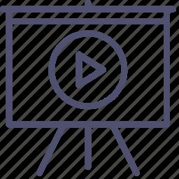 board, deck, play, presentation, promo, video icon