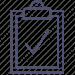 aprove, board, buffer, check, clip, clipboard, done, todo icon