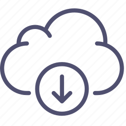 cloud, data, download, storage icon