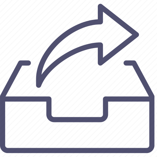 box, email, forward, inbox, mail, mailbox, send icon