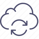 cloud, data, storage, sync, syncronization icon