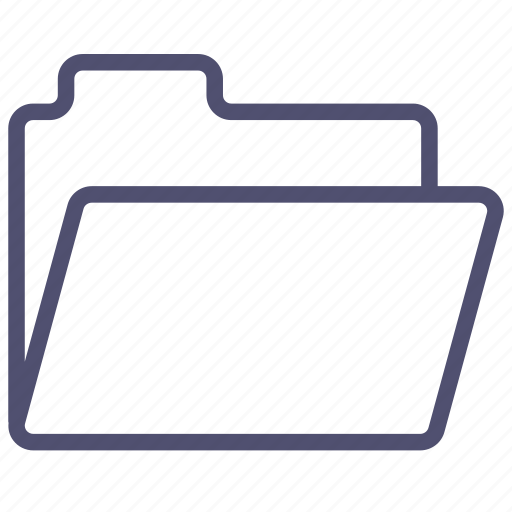 files, folder, open, storage icon