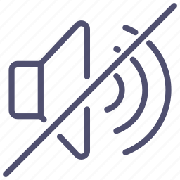 big, lmute, no, sound, volume icon