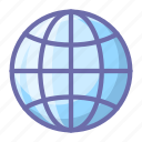 earth, globe, web icon