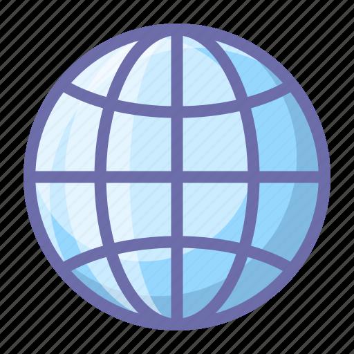 earth, globe, web icon