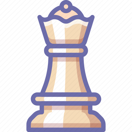 chess, figure, queen icon