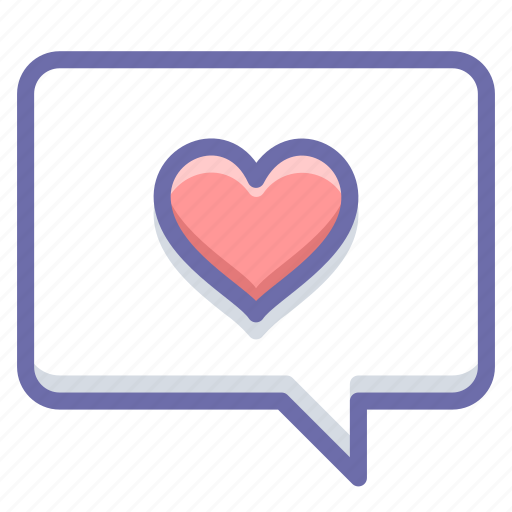 like, love, message icon