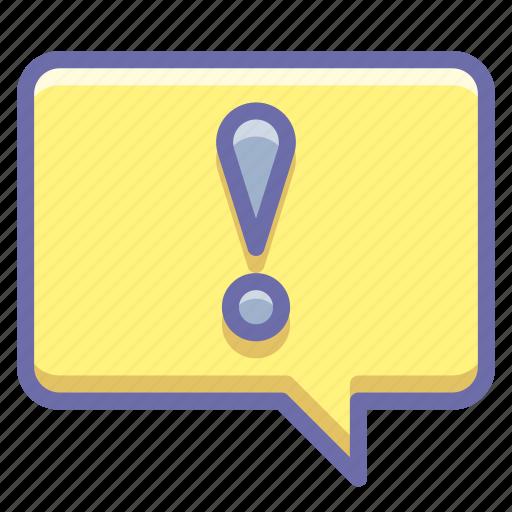 alert, bubble, message icon