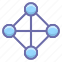 hierarchy, network, topology icon