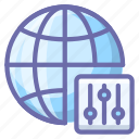 globe, internet, control