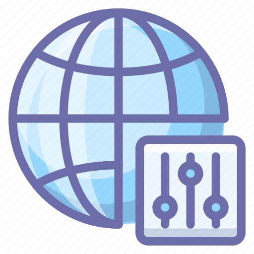 Globe, internet, control icon - Download on Iconfinder