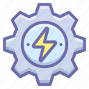 energy, gear, process icon