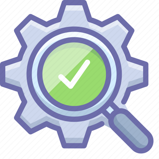 Check, gear, search icon - Download on Iconfinder