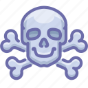bones, danger, skull icon