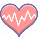 cardiogram, heart, pulse icon