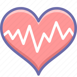 cardiogram, heart, pulse icon