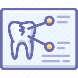 tomography, tooth, xray icon