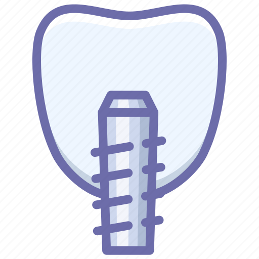 implanting, screw, tooth icon